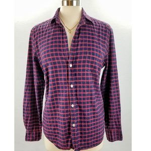Frank & Eileen Navy & Red Flannel Shirt Small